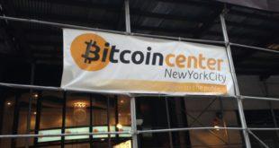 Bitcoin Center Außenbanner