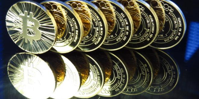 sechs bitcoin münzen