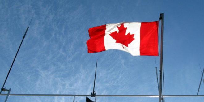 Flagge von Kanada Coinbase