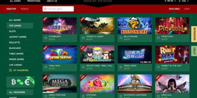 bitstarz bitcoin casino - lobby