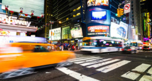 Coinbase am New Yorker Times Square