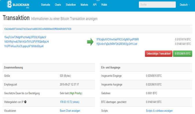 wie lange dauert eine bitcoin transaktion