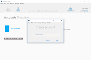 Ethereum Wallet: Account erstellen