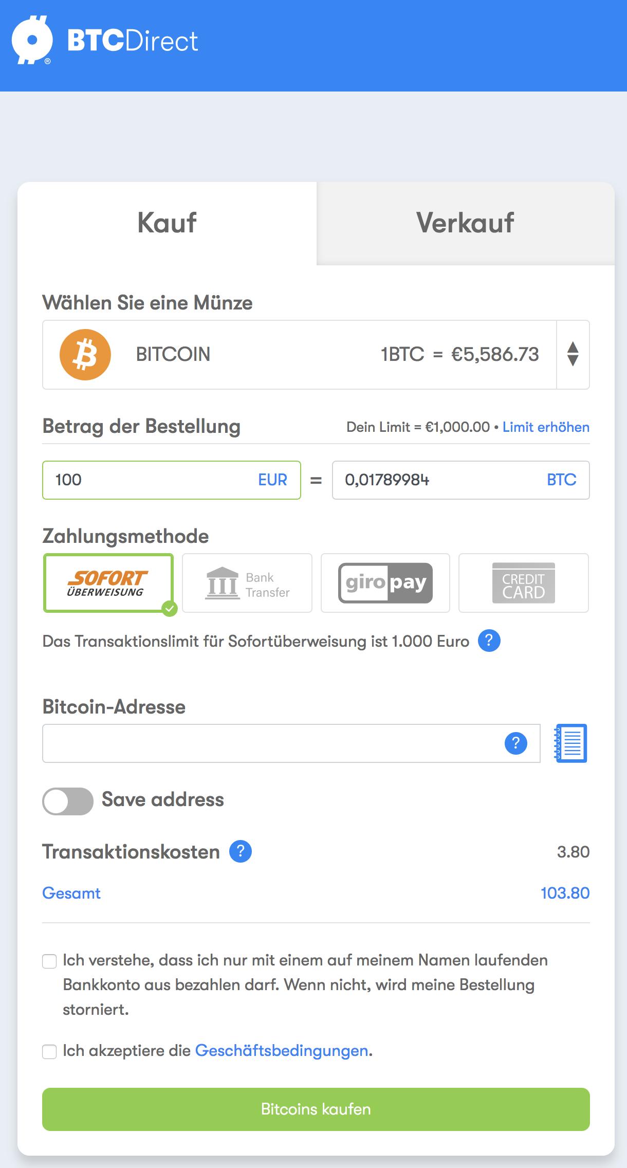 investieren sie in die bitcoin-zukunft bitcoin kaufen ab 10€